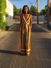 Load image into Gallery viewer, Multi Color Stripe Wide Leg Jumpsuit
