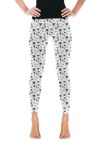 Raccoon Hipster Leggings