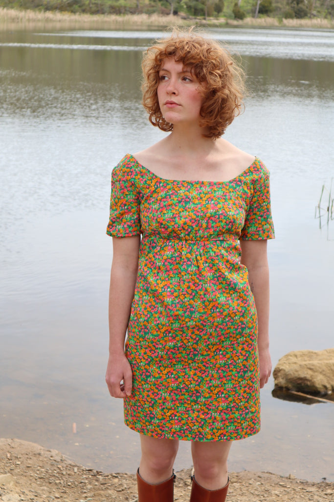 Vintage 1970s Cotton Baby Doll Dress