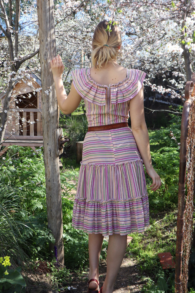 Pretty Vintage Cotton Dress (XS/Sml)