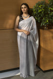 Ombre Grey Sequined Saree