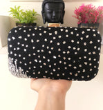 Black Sequinned Clutch