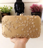 Light Beige Sequinned Clutch