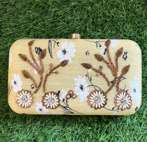 Beige Handworked Clutch