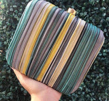Yellow-Hued Illusion Box Clutch