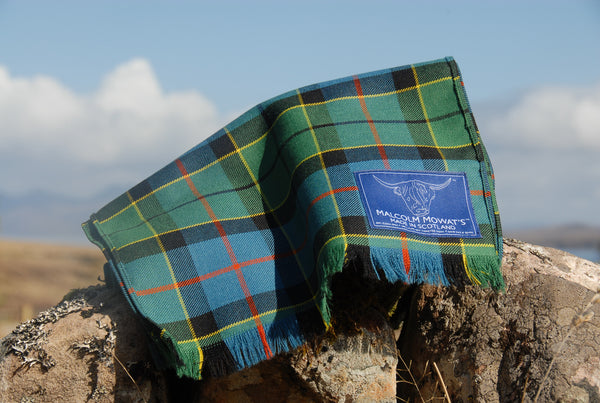 Malcolm Mowat's Worsted Wool Scarf: 'Opinan' - Made in Scotland