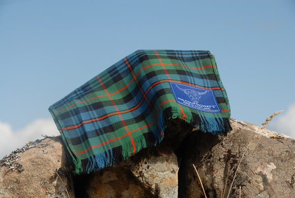 Malcolm Mowat's Worsted Wool Scarf: 'Fisherfield' - Made in Scotland
