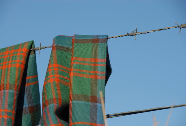 Malcolm Mowat's Worsted Wool Scarf: 'Broom' - Made in Scotland