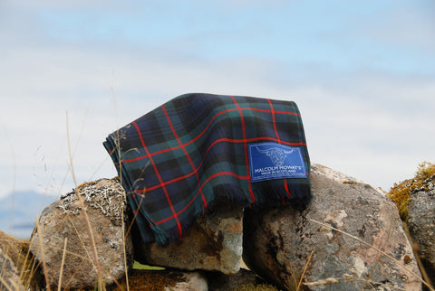 Malcolm Mowat's Worsted Wool Scarf: 'Maree' - Made in Scotland