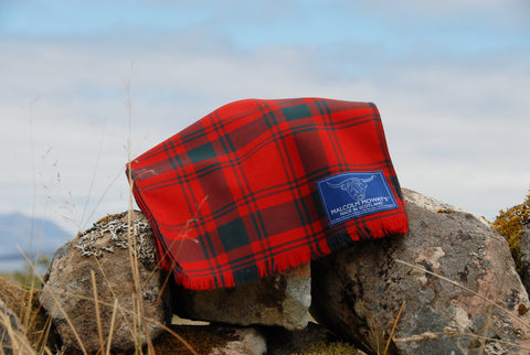 Malcolm Mowat's Worsted Wool Scarf: 'Udrigle' - Made in Scotland