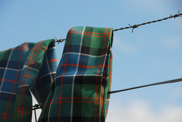Malcolm Mowat's Tartan Worsted Wool Scarf: 'Uist' - Made in Scotland