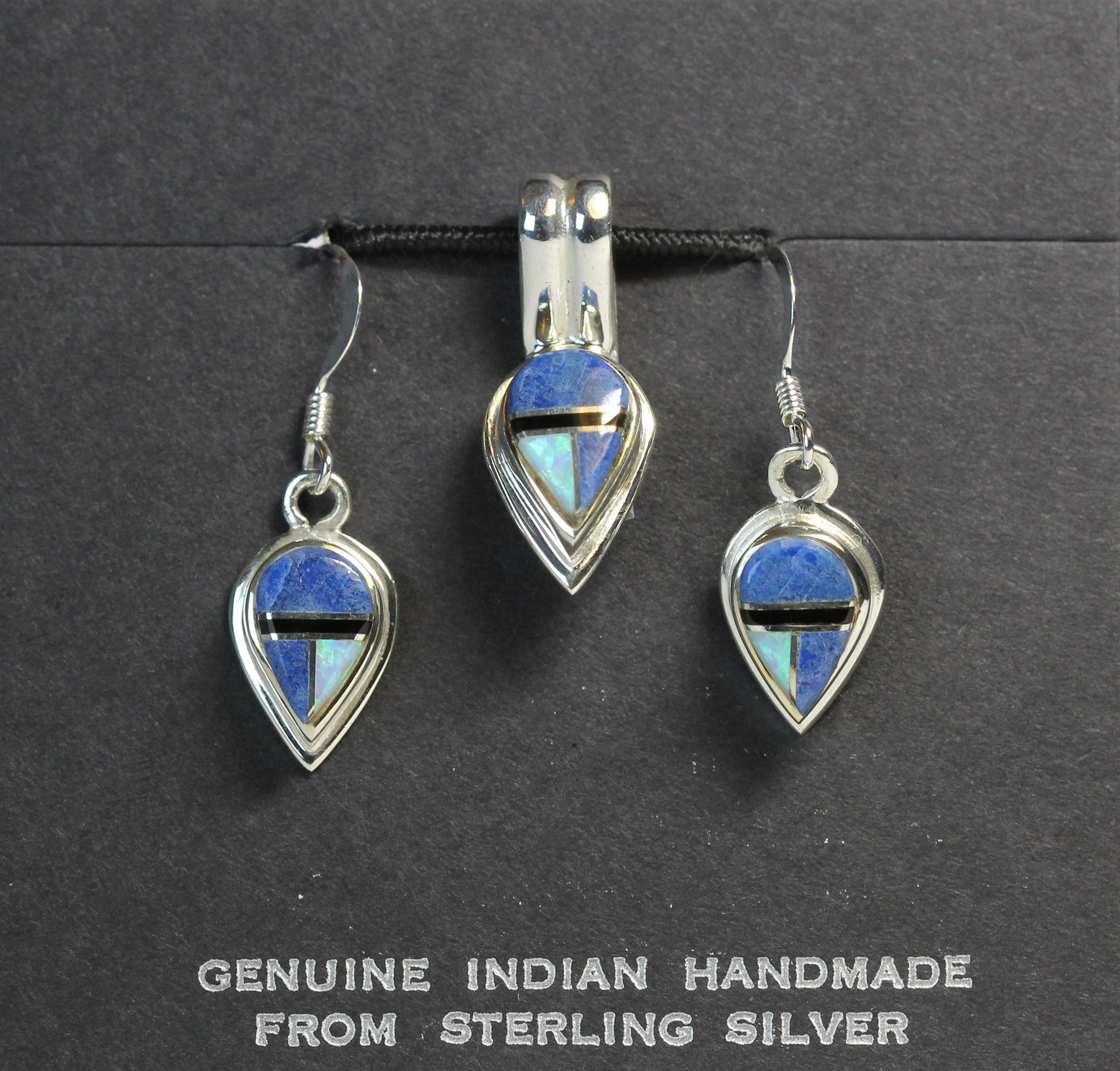 teardrops wire set collections erfw sets inlay pendant stone jewelry br opal denim reverse french pnt copy genuine teardrop fat earrings native img llc multi silver american
