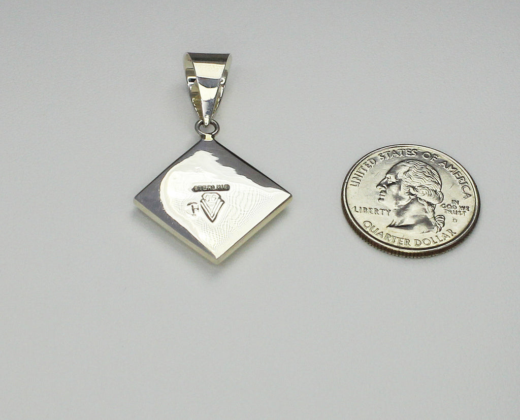 Multi-stone InlaySterling silver penant