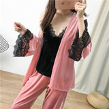 Women New Velvet Warm 3PCS
