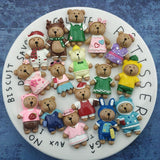 16 cute bear sets fridge magnet office