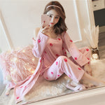 women's 3 pieces pajamas sets