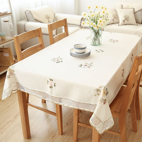 Europe Flowers Tablecloth