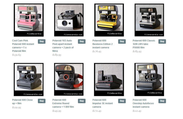 Widest range of Polaroid cameras