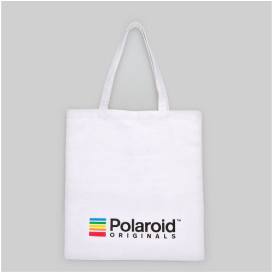 Polaroid Originals White Tote Bag