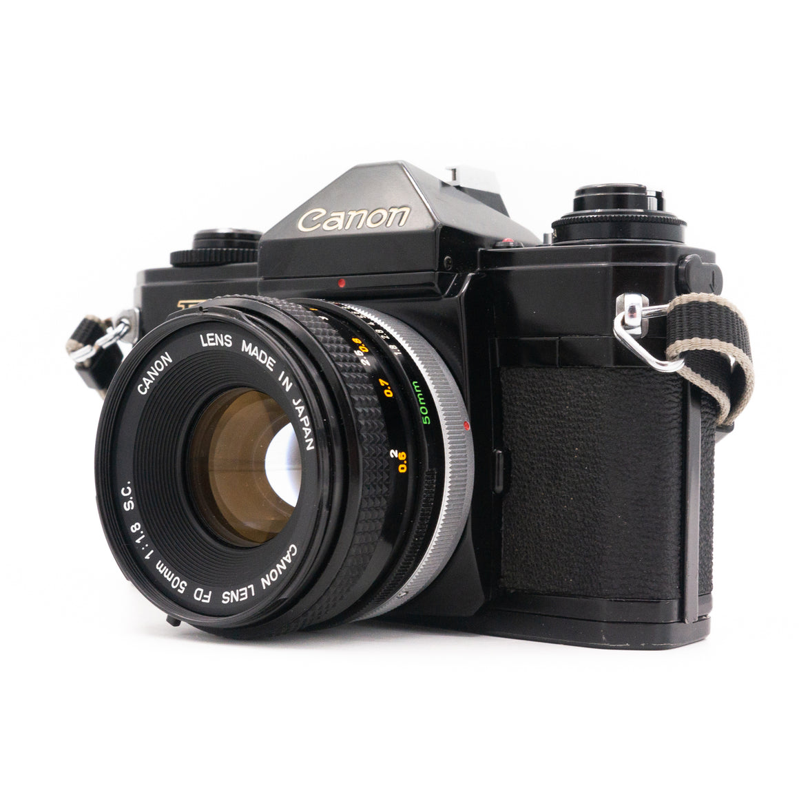 Canon EF SLR Camera with Canon FD 50mm f/1.8 Lens