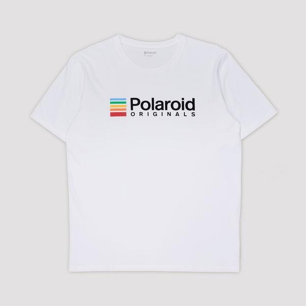 Polaroid Originals T-Shirt - White with Color Logo