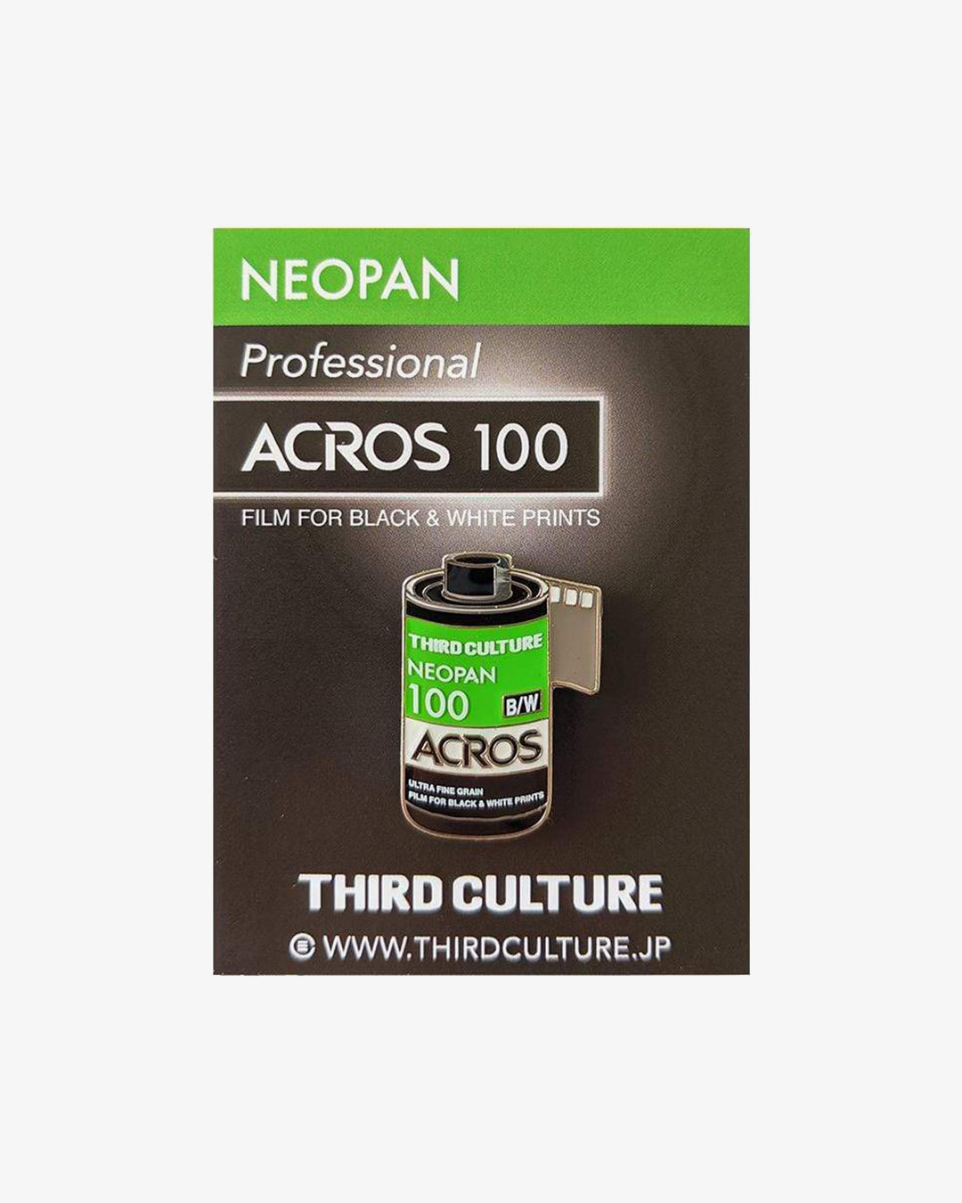Acros Neopan 100 35mm Film Pin by Third Culture