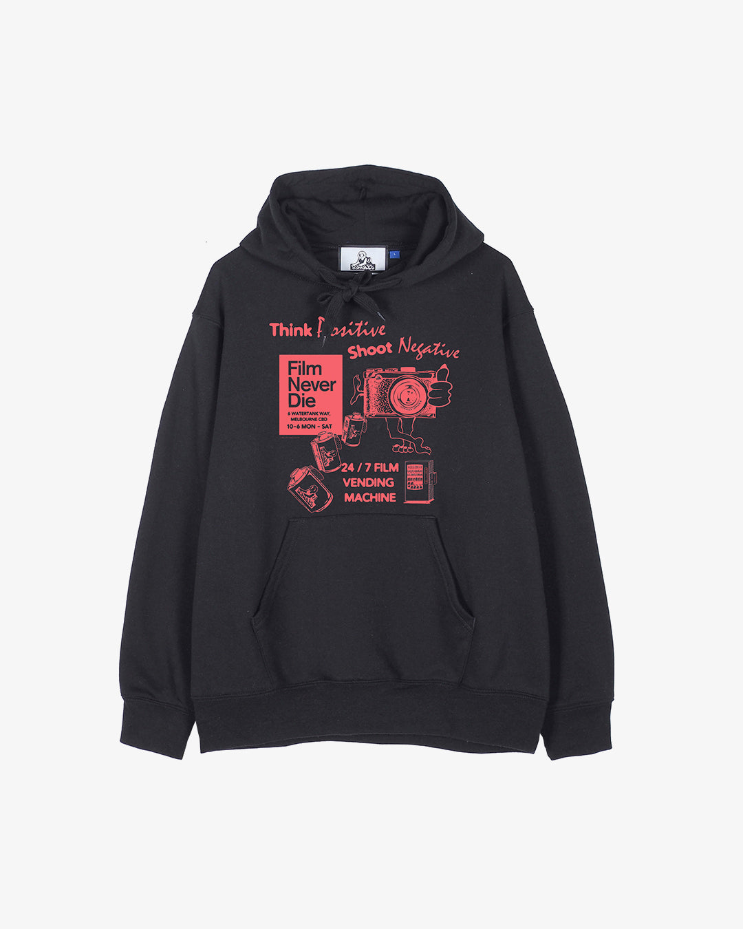 Think Positive, Shoot Negative (Black Hoodie)
