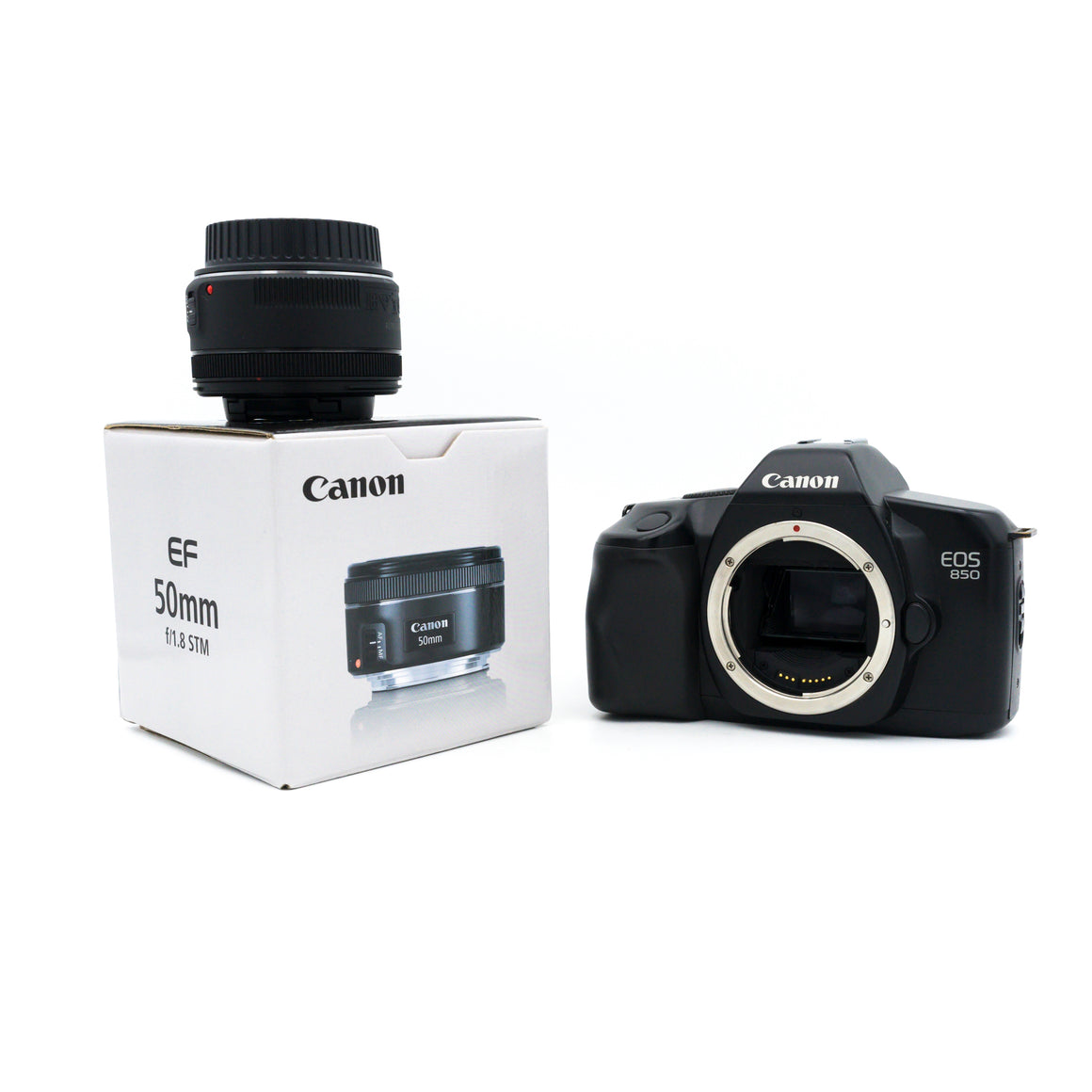 Canon EOS 850 SLR with Canon EF 50mm F1.8 STM Lens kit