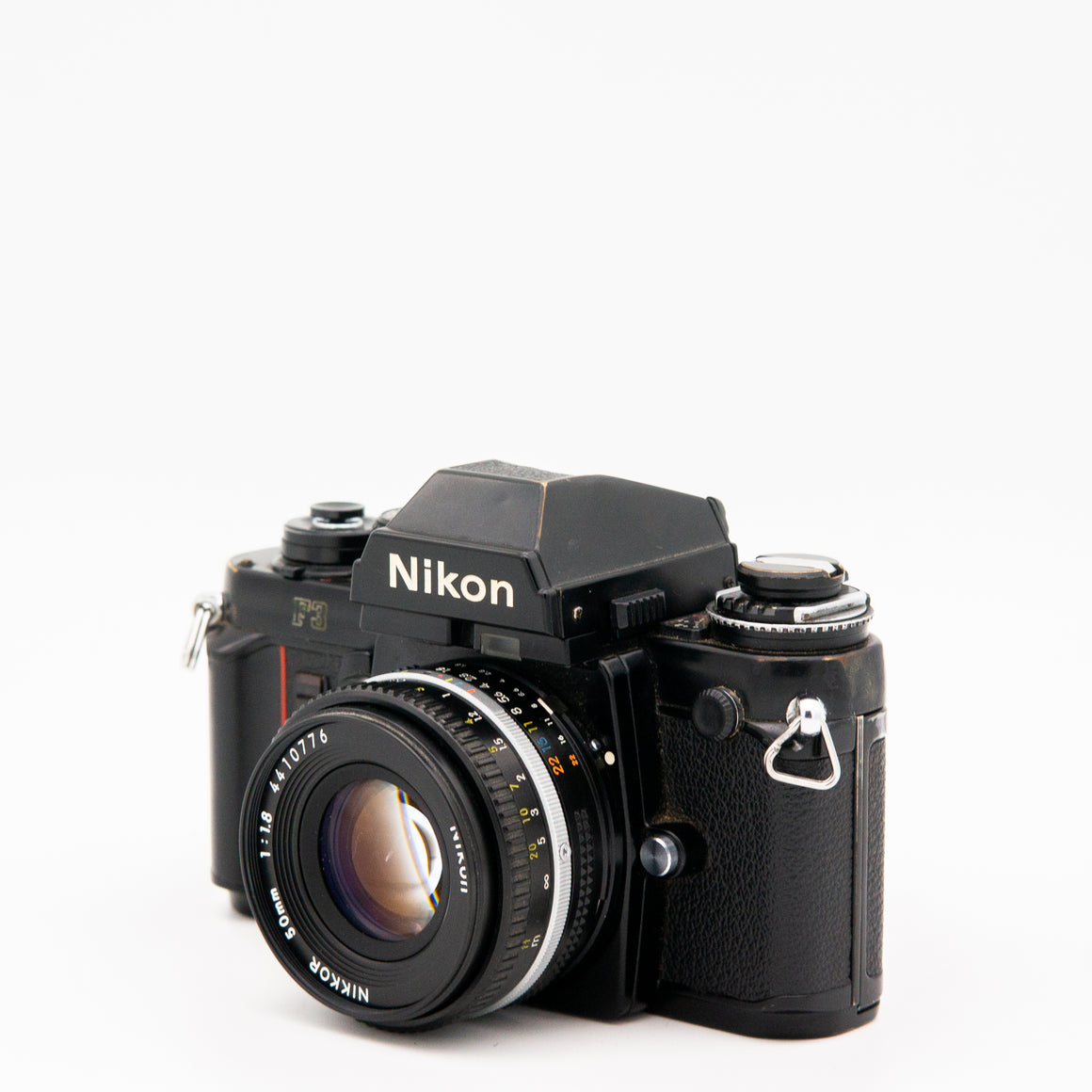 Nikon F3HP SLR Camera with Nikkor 50mm f/1.2 Lens, Motor Drive, Flash & Case