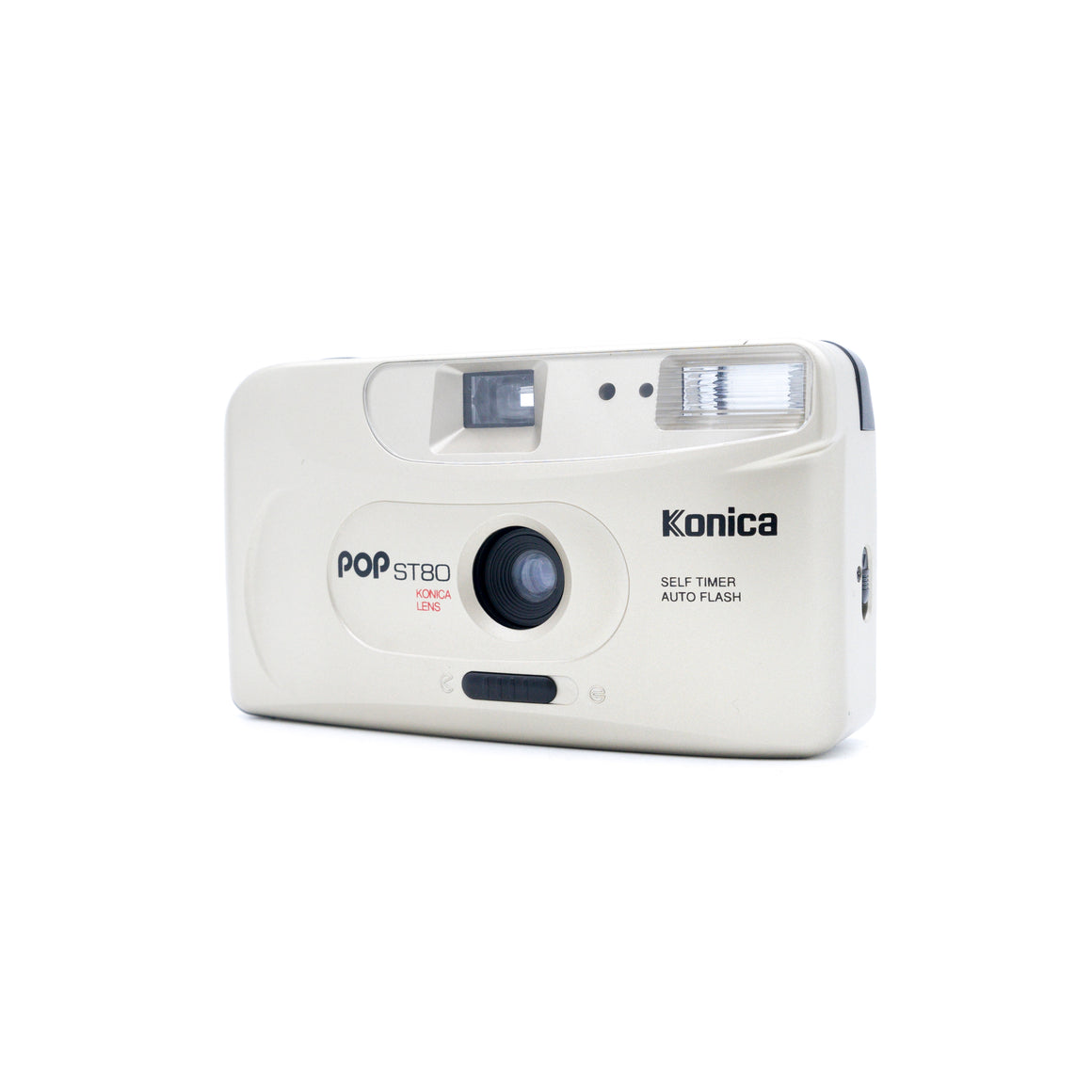 Konica POP ST80 35mm Point and Shoot Camera Auto Flash gold in BOX