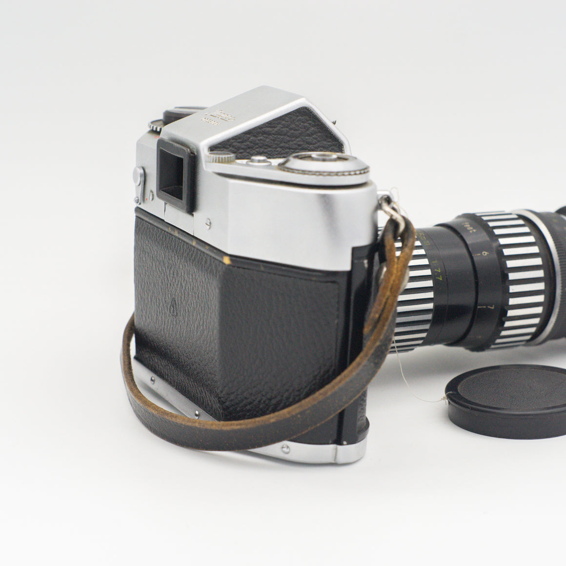 Exakta EXA500 35mm SLR Camera with a long lens