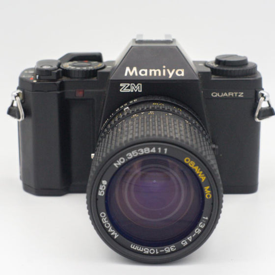 Mamiya ZM 35mm SLR Film Camera with 35mm-105mm zoom lens