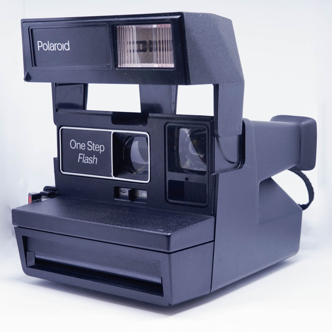 Black Polaroid 600 One Step Flash Instant Camera