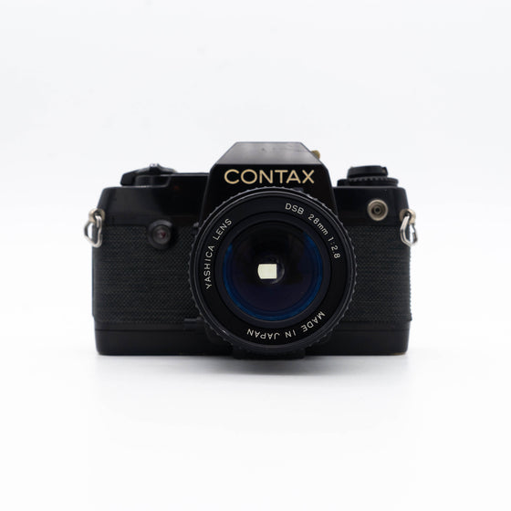 Contax 137 MD Quartz SLR Camera with Yashica 28mm f/2.8 Lens