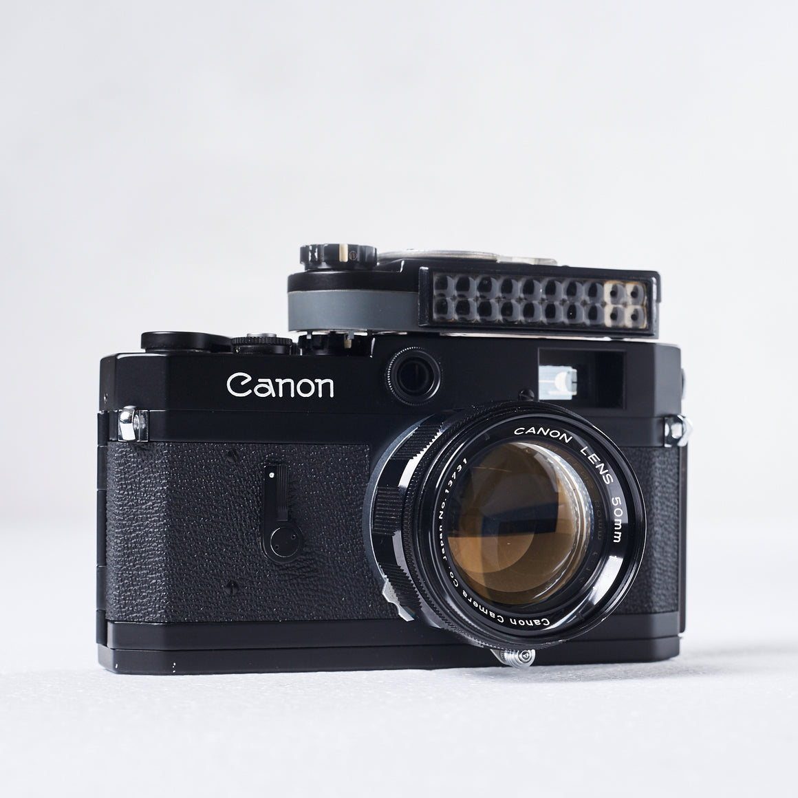 Canon P Rangefinder (Black Repaint) with 50mm f/1.4 LTM Lens, Canon P Lightmeter