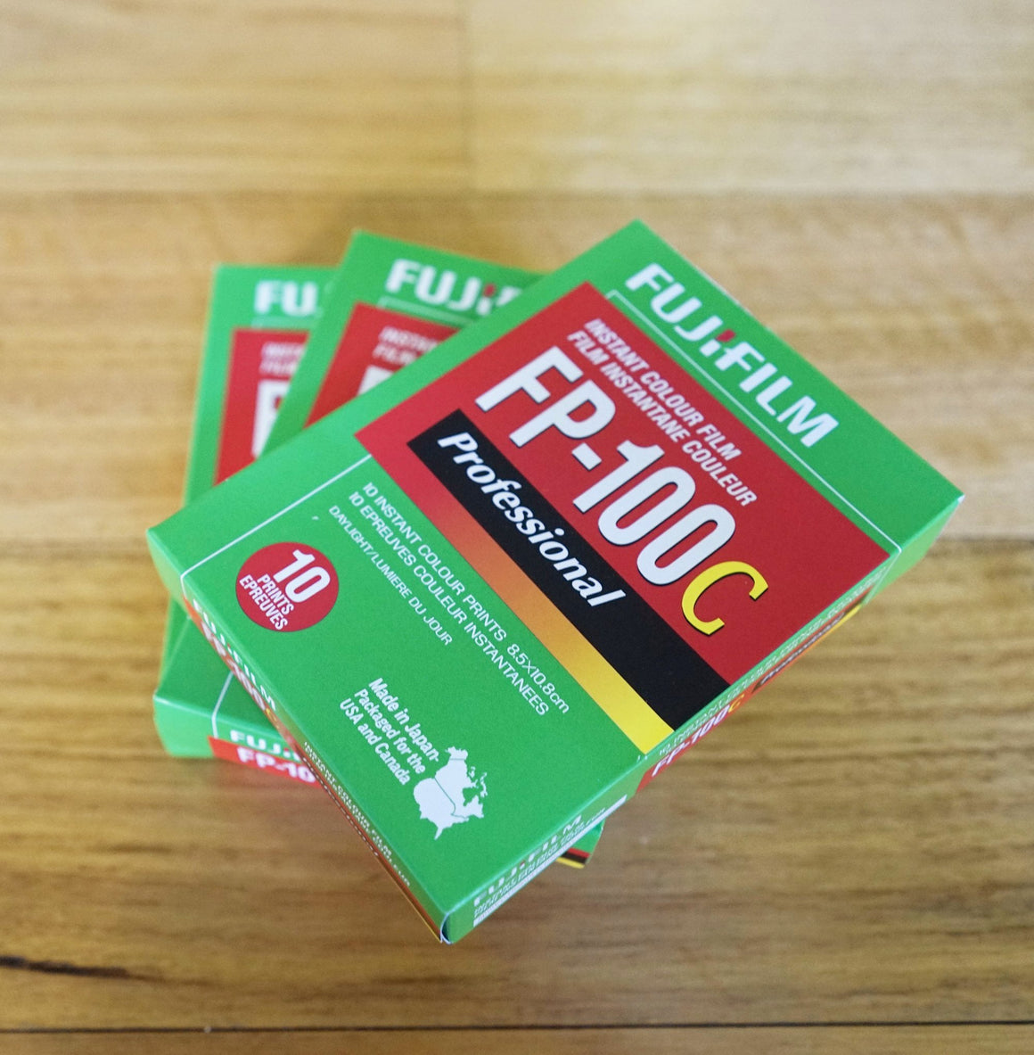 Fujifilm Detachment-type instant film FP-100C Professional 3.25x4.25 Japan Fs