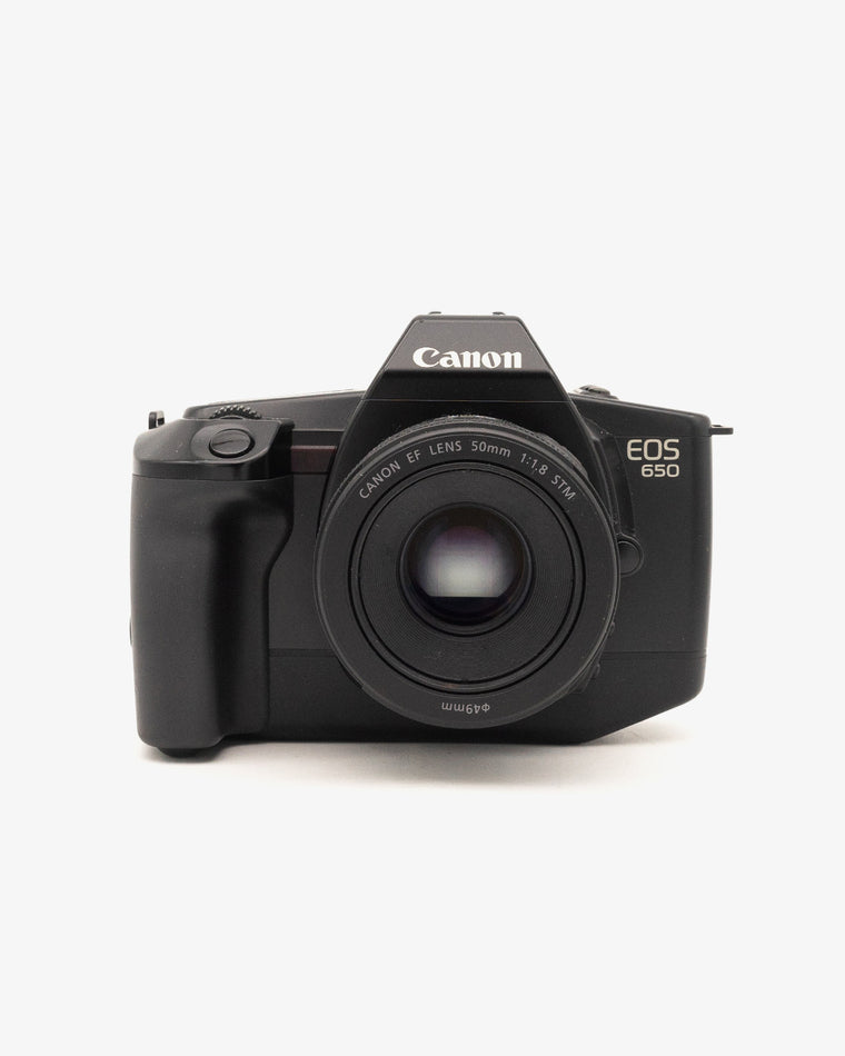 Canon EOS 650 SLR Camera with Canon EF 50mm f/1.8 Lens
