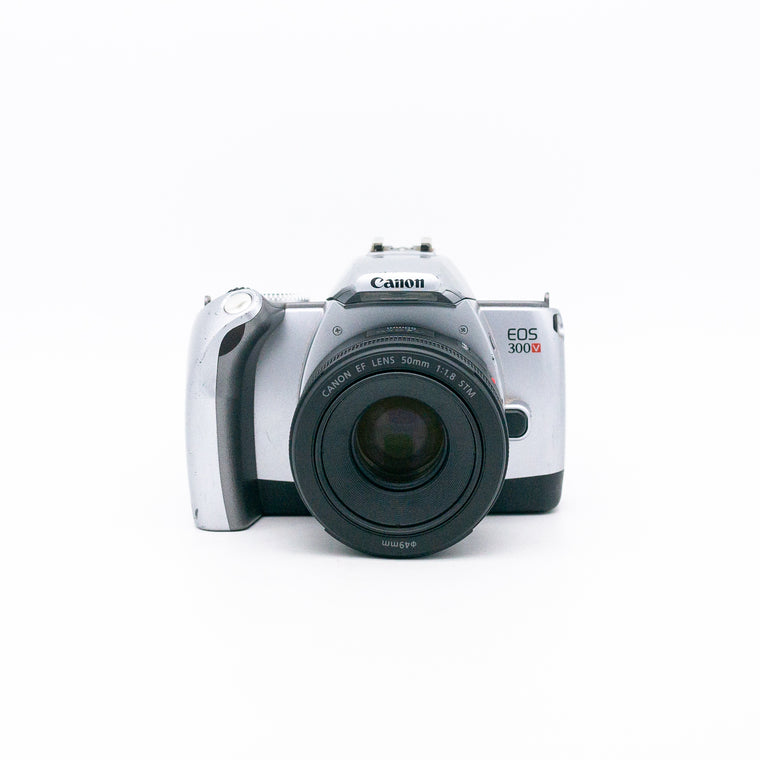 Canon EOS 300V SLR Camera with 50mm f/1.8 STM Lens