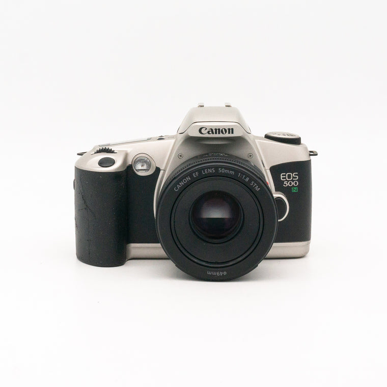 Canon EOS 500N SLR Camera with 50mm f/1.8 STM Lens