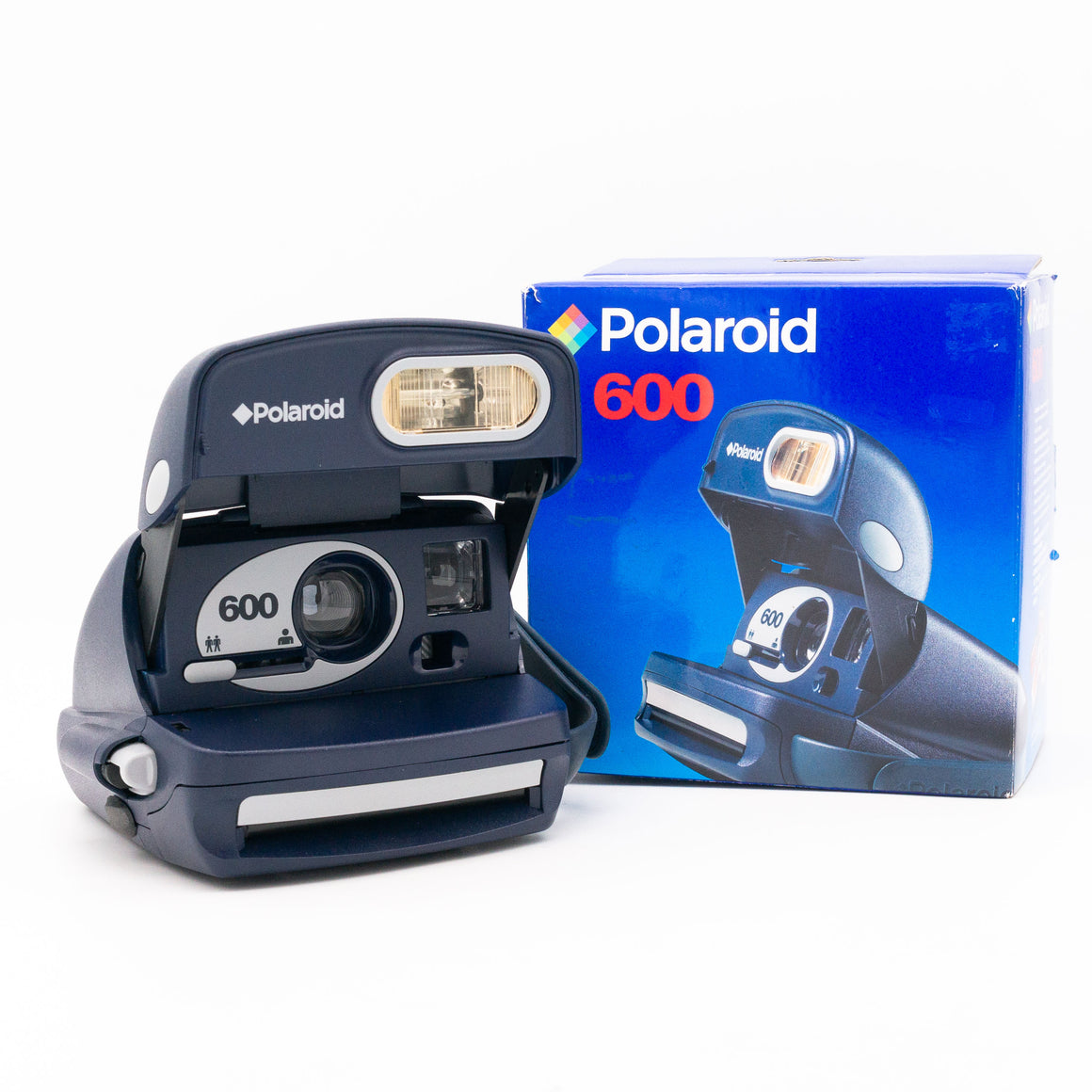 Navy Blue and Silver Polaroid 600