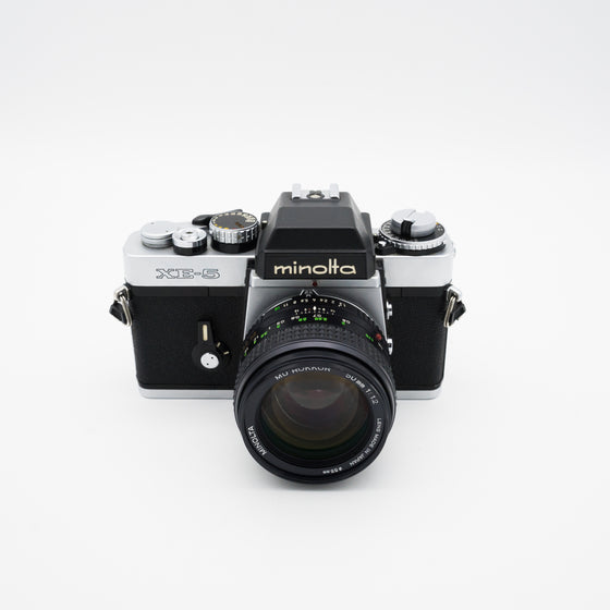 Minolta XE-5 35mm SLR Camera with MD Rokkor 50mm f/1.2 Lens