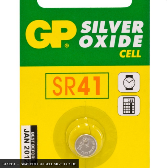 384 / 392 - SR41W 1.55V BUTTON CELL SILVER OXIDE