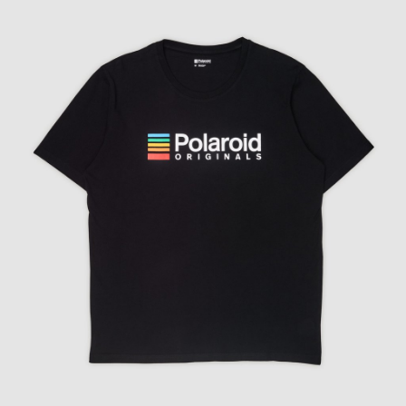 Polaroid Originals T-Shirt - Black with color logo