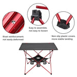 DEERFAMY Lightweight Camping Table with Cup Holder & Aluminum Poles Portable Picnic Table Folding Camp Table with Travel Bag for Beach BBQ Hiking Tailgate Fishing