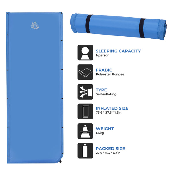DEERFAMY Self-Inflating Camping Sleeping Pad - DEERFAMY