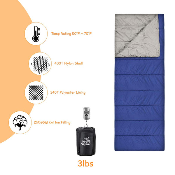 DEERFAMY Camping Sleeping Bag - DEERFAMY