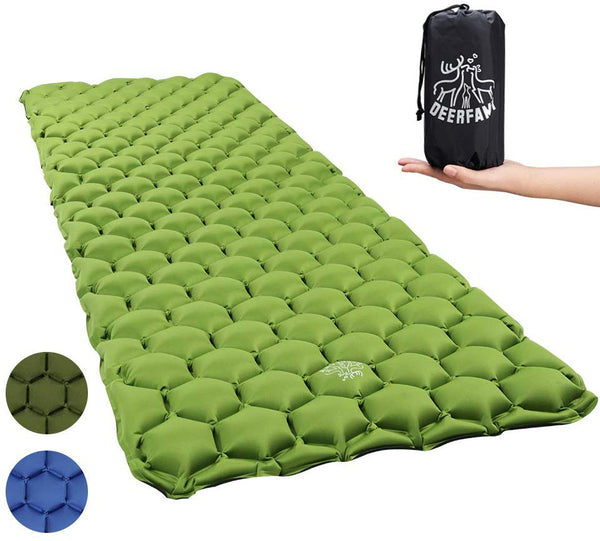 Camping Air Inflatable Sleeping Pad - Green