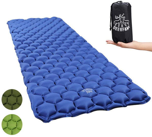 Camping Air Inflatable Sleeping Pad - Blue