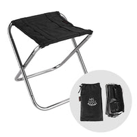 DEERFAMY Mini Camping Stool Folding Lightweight Camp Stool Portable Foldable Seat Ultralight Outdoor Slacker Chair for Travel, Hiking, Fishing, BBQ, Beach, Backyard, 1 Pack