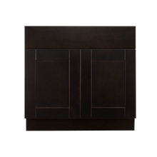 Load image into Gallery viewer, Anchester Espresso Base Cabinet 2 Drawers 2 Doors 1 Adjustable Shelf